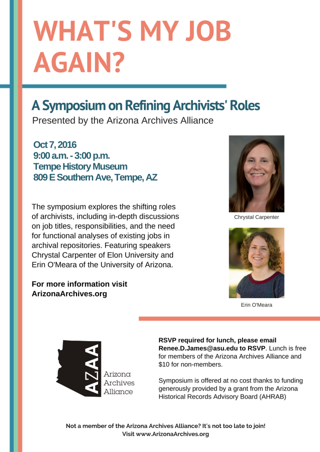 Archives Symposium Flyer